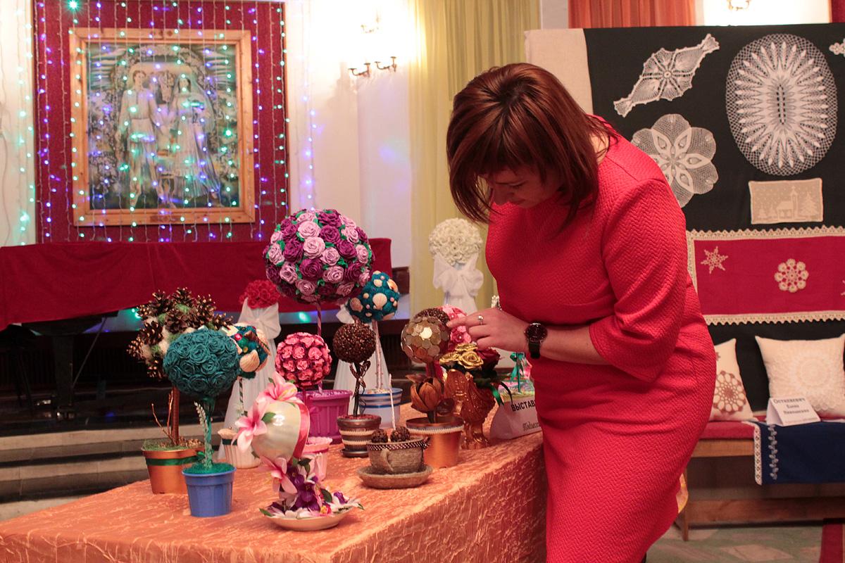 В Доме культуры были продемонстрированы работы народных мастеров