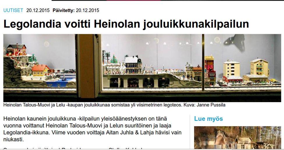 Витрина-победитель. Фото с сайта www.itahame.fi