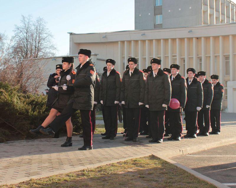 В церемонии открытия приняли участие кадеты Брестского областного кадетского училища.