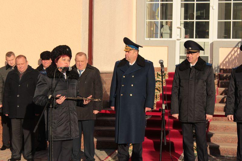 Начальник Барановичского межрайонного отдела Следственного комитета Республики Беларусь Инна Семенюк на церемонии открытия.