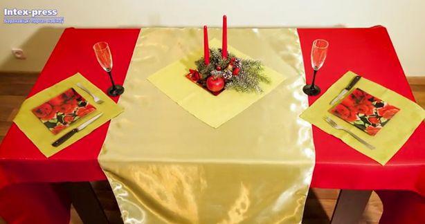 В оформлении праздничного стола в этом году нужно использовать красные оттенки. Фото: Александр КОРОБ.