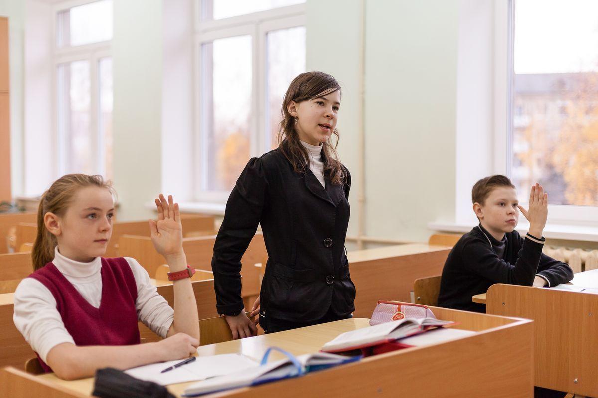 Урок в единственном в Барановичах белорусскоязычном классе, 10 ноября. Фото: архив IP