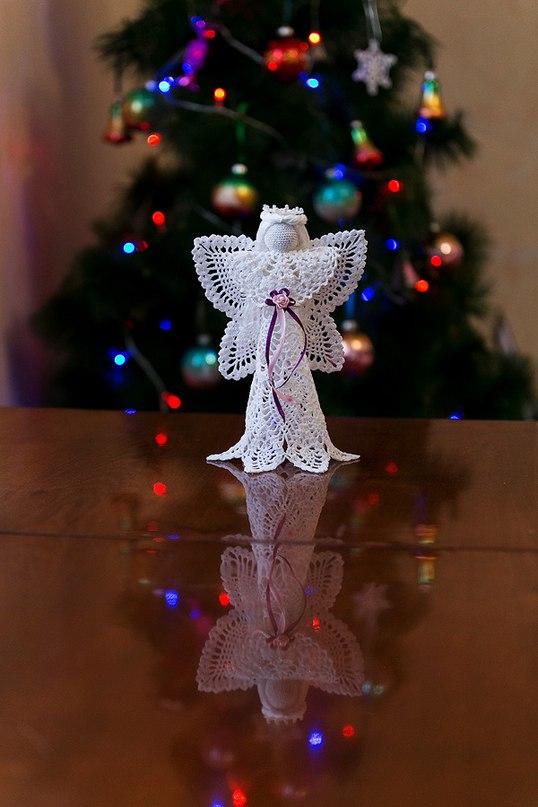 Вязанный крючком ангел. Фото из архива мастера.