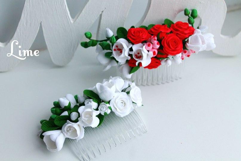 Цветы из полимерной глины. Автор Наталья Кононович. Фото из архива мастера.