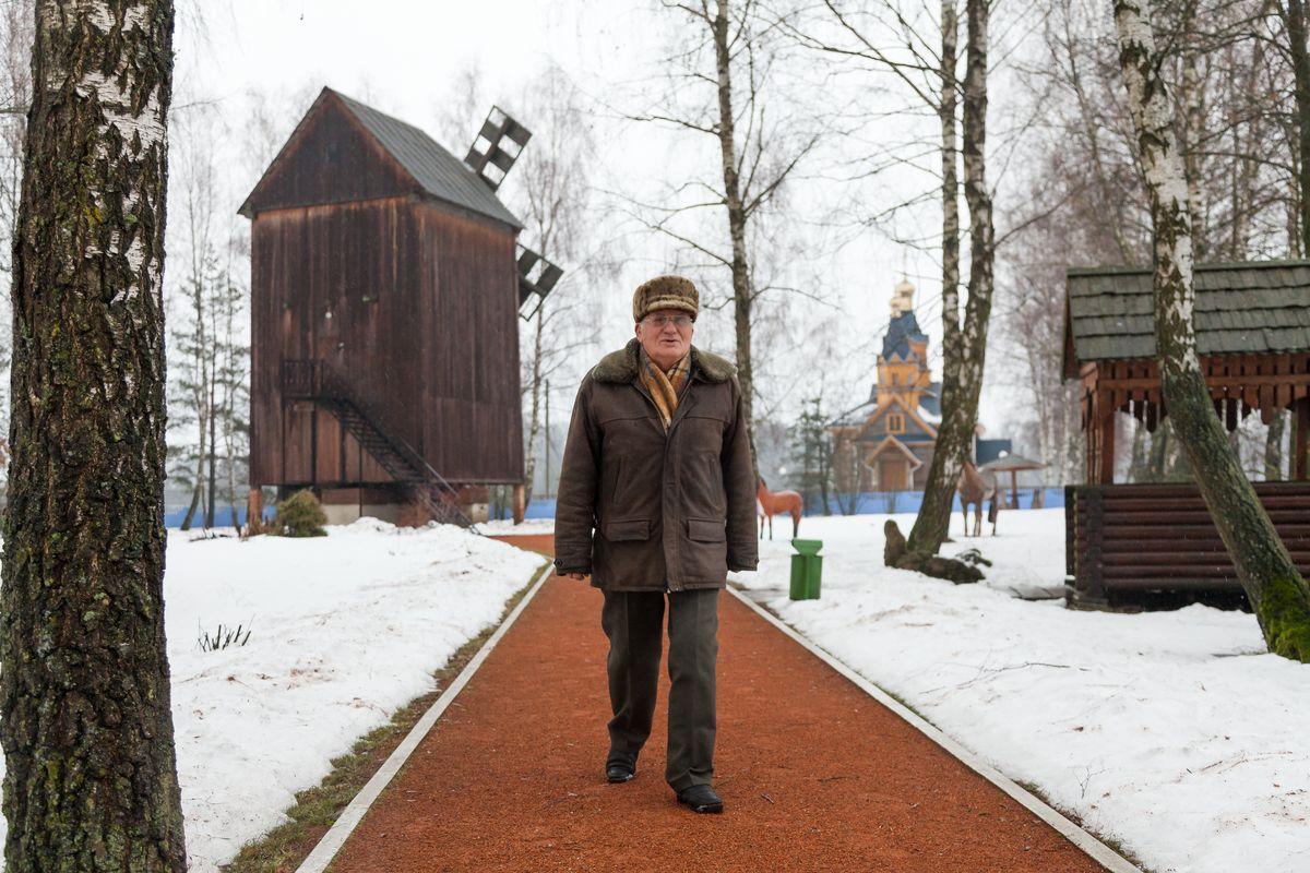 Гонар Міхася Берната – адноўлены вятрак. Фота: Аляксандр КОРАБ