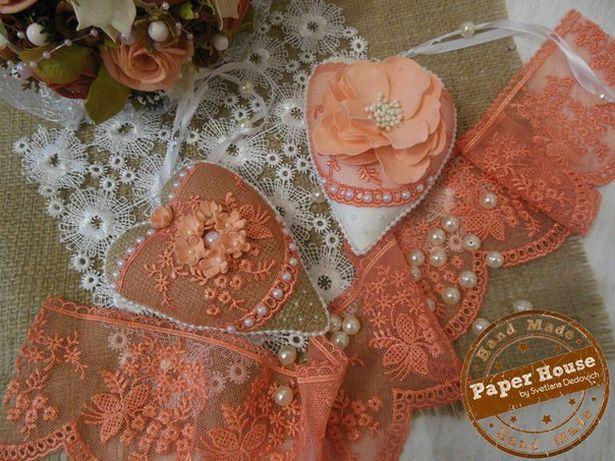 Текстильные сердца. Автор Светлана Дедович. Фото из архива автора.