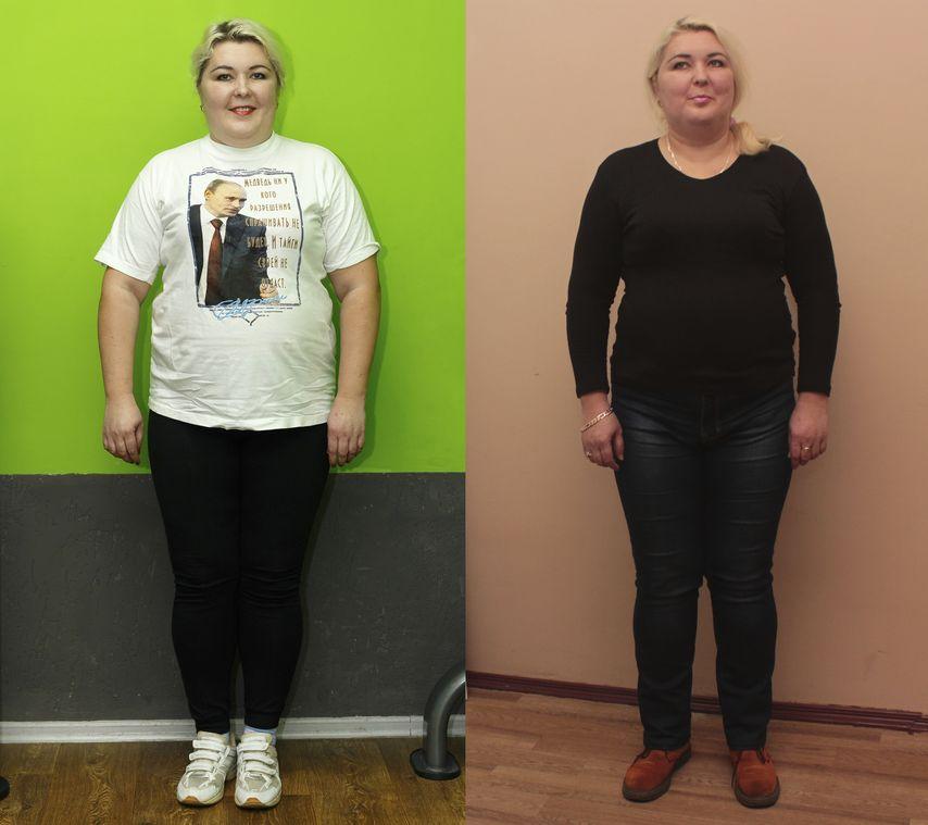 Первые результаты похудения