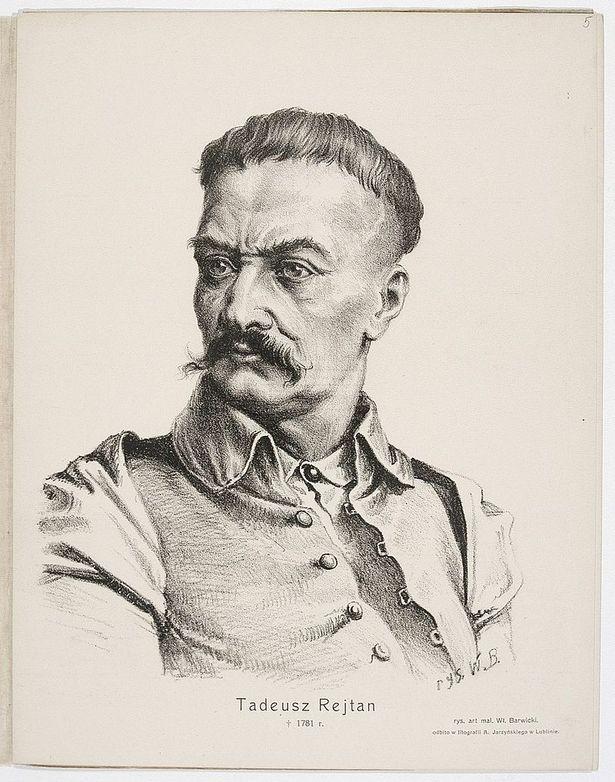 Тадэвуш Рэйтан. Мастак У. Барвіцкі, XIX ст.