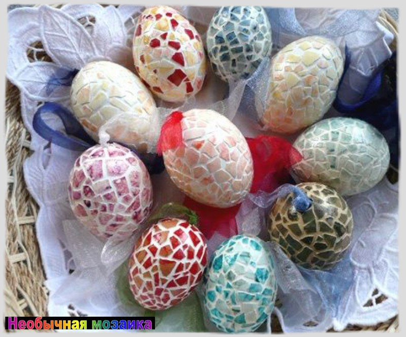 Мозаичные яйца. Фото: сайт mosaic-hobby.blogspot.com.by