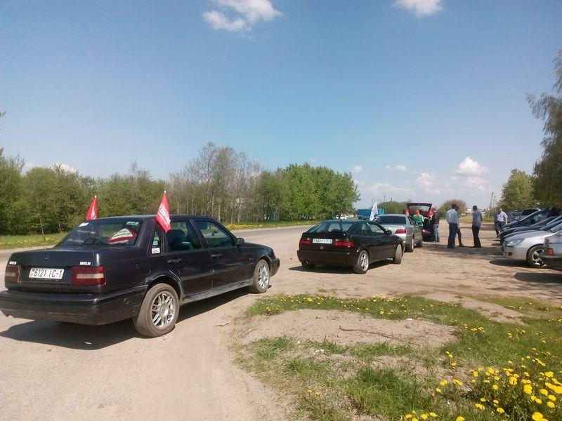 Участники пробега готовятся к акции. Фото: Анна РОМАНОВА-КОЛОСОВСКАЯ