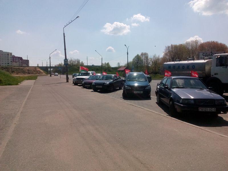 В колонне проехало 11 автомобилей. Фото: Анна РОМАНОВА-КОЛОСОВСКАЯ