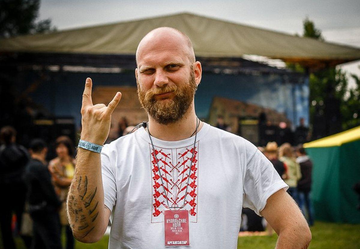 Лідар музычнага гурта Znich Алесь Таболіч. Фота: Gotic Ripper