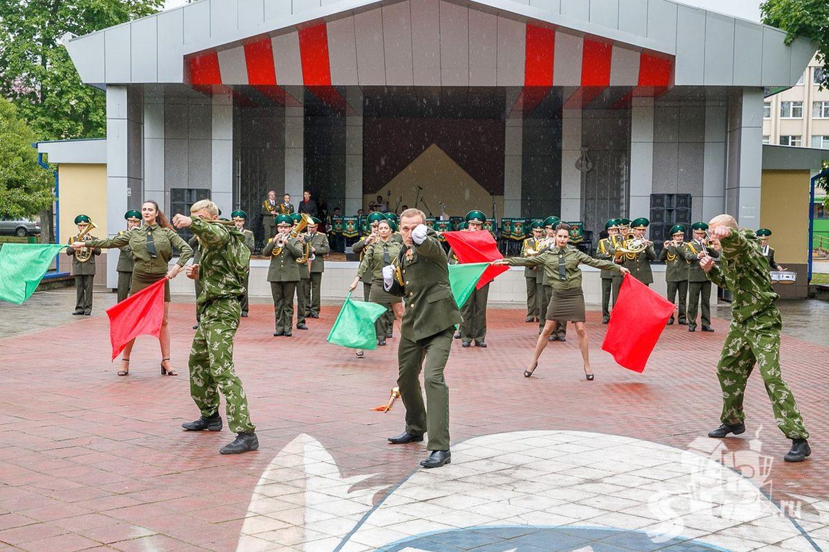 Парад музыкальных коллективов погранвойск в Гродно