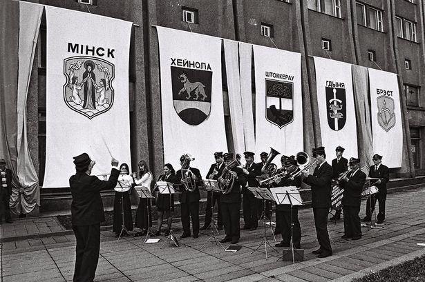 Выступление духового оркестра из Польши в дни праздника Барановичская весна-96. Фото: Кашко М.В. из фондов Барановичского краеведческого музея
