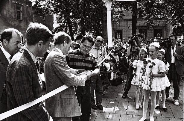 Торжественное открытие бульвара Штоккерау в Барановичах во время праздника Барановичская весна-96. Фото:  из фондов Барановичского краеведческого музея
