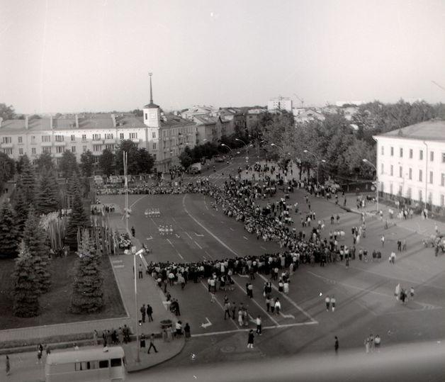 Барановичи. Площадь Ленина. 1986 год. Фото: архив Барановичского краеведческого музея
