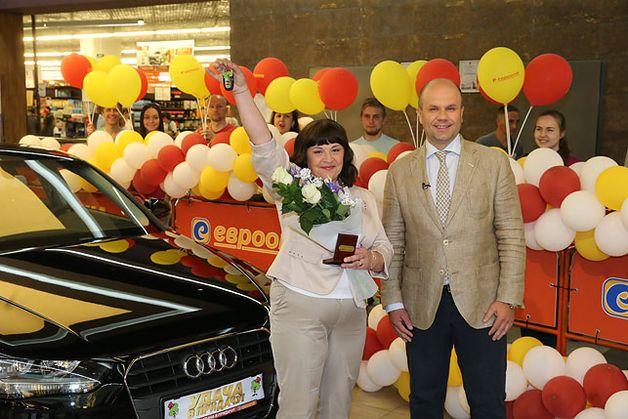 Жанна Погасай выиграла автомобиль Ауди в рекламной игре Удача в придачу