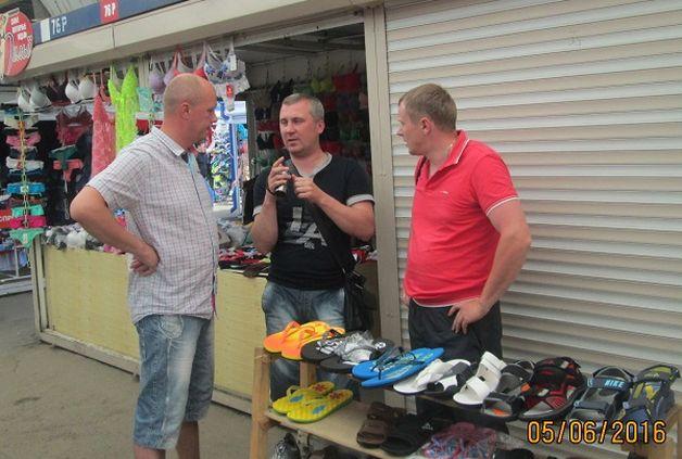 Белорусские предприниматели провели на рынке акцию