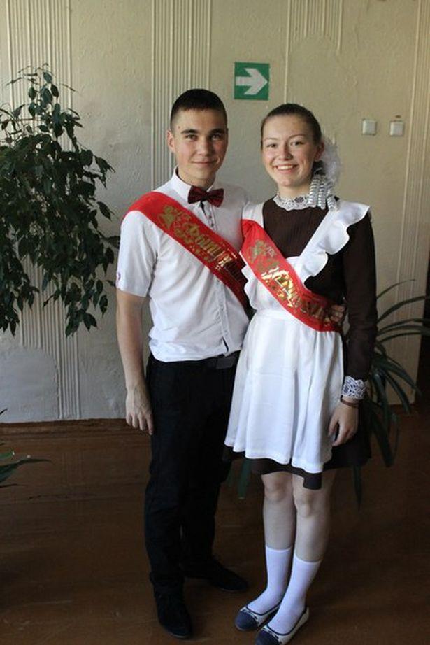Анна Ярук с одноклассником Дмитрием, 2016 год. Фото: архив героини.