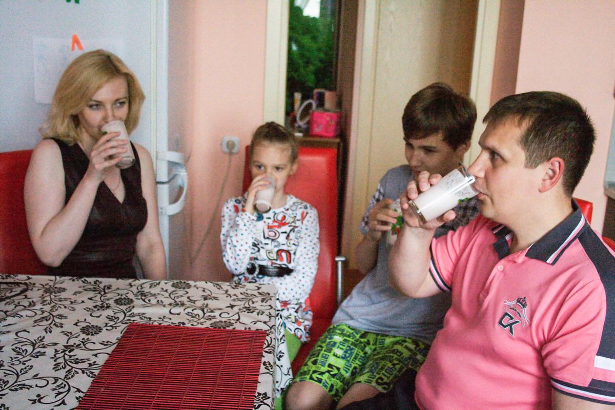 В семье Юрия соблюдают основные принципы здорового питания. Фото: Евгений ТИХАНОВИЧ