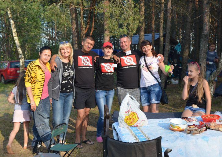 Участники слета из Барановичей. Фото: Вячеслав КУЛЕШ.