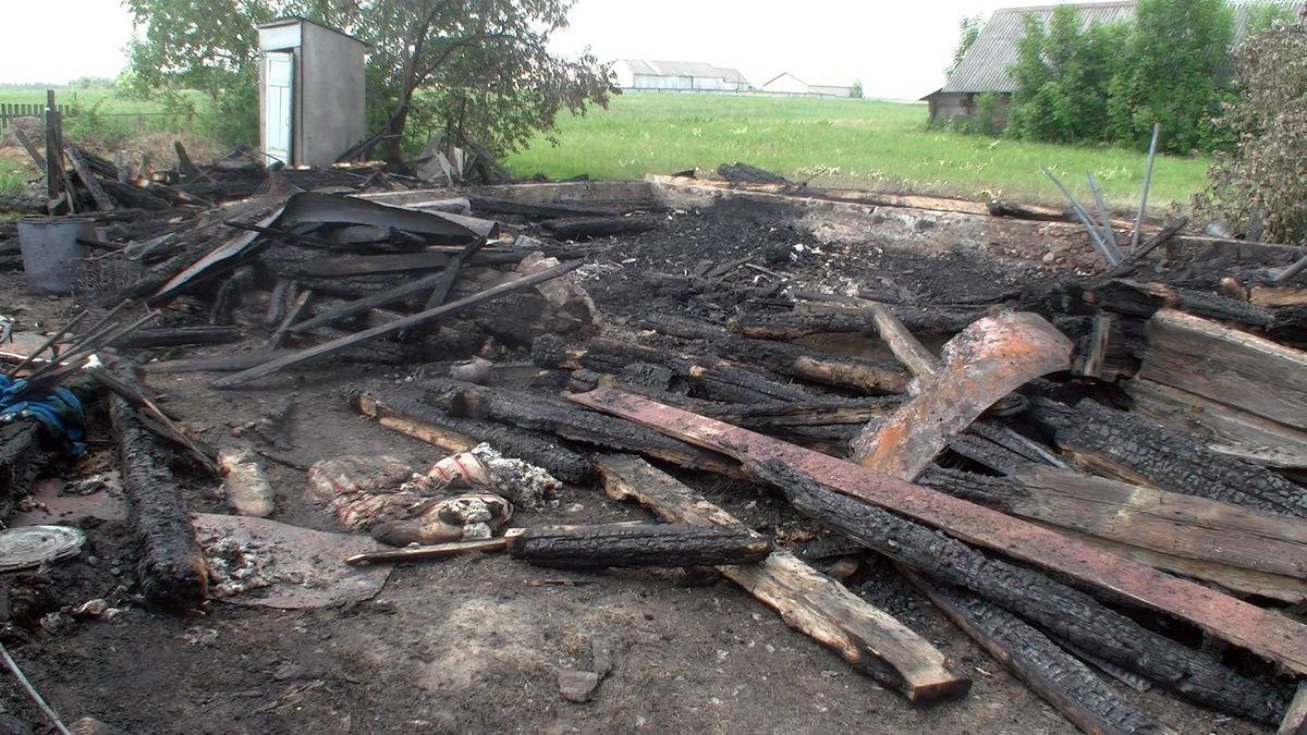 В огне погиб пенсионер.