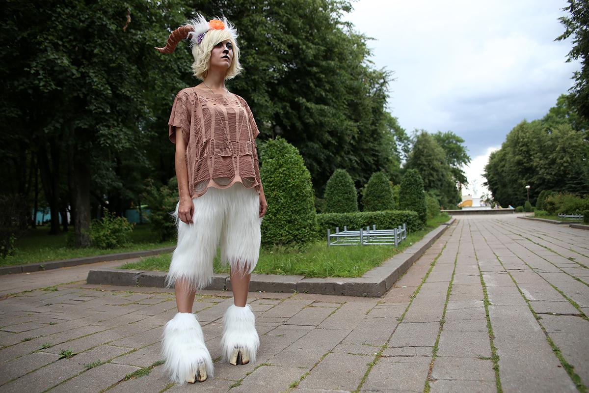 Девушка в образе фавна. Фото: Евгений ТИХАНОВИЧ