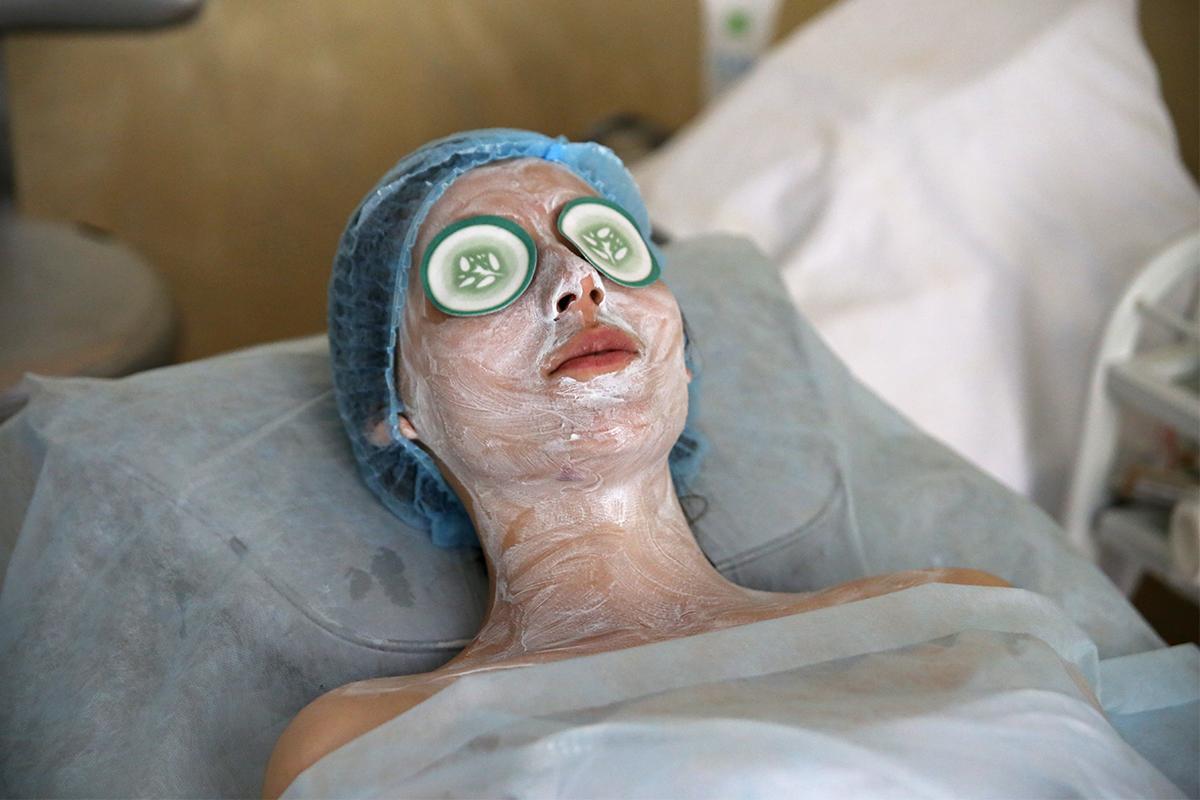 Оставление маски на 10 минут