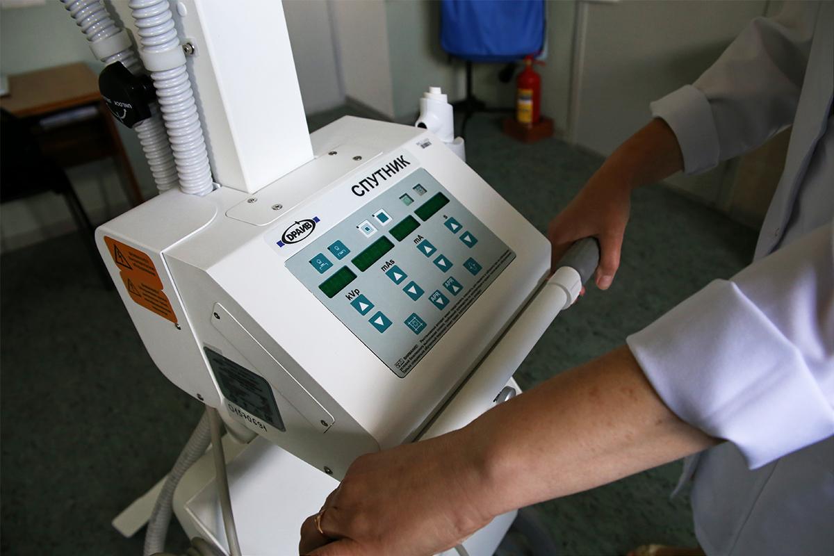 Передвижной рентген-аппарат белорусского производства. Фото: Евгений ТИХАНОВИЧ
