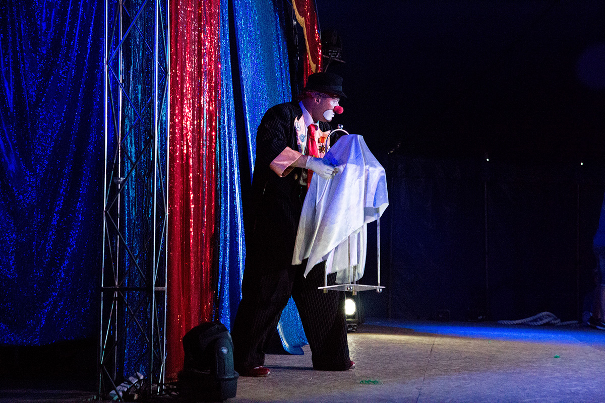 Клоун Павлик на сцене