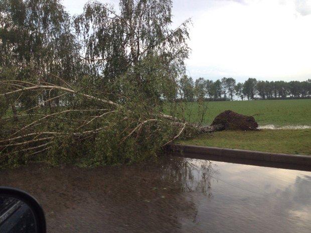 Последствия стихии в Дзержинске