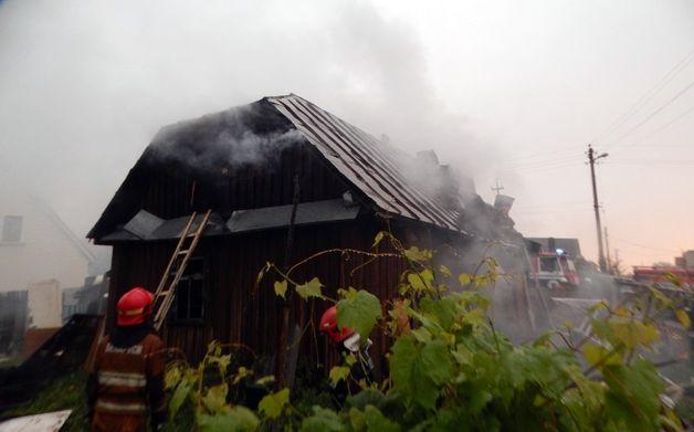 В Барановичах горел жилой дом, Барановичский ГРОЧС