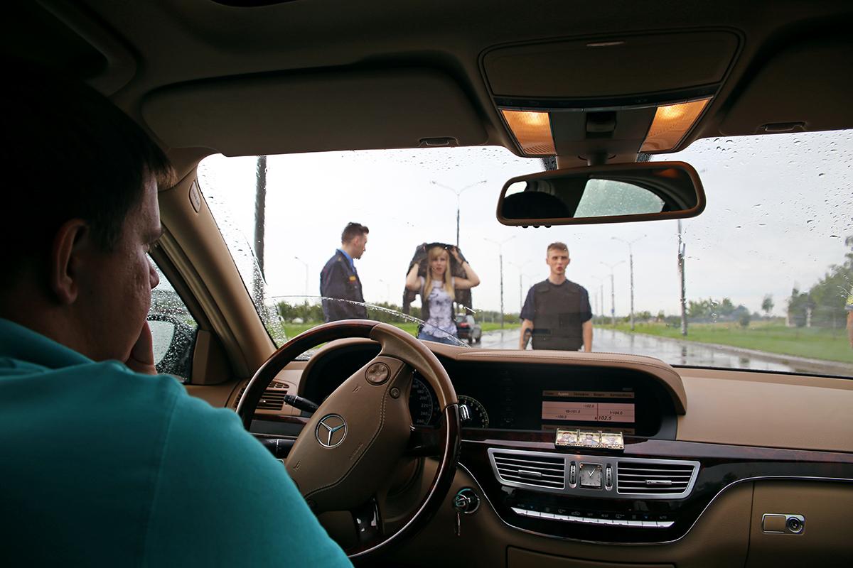 Вид из машины VIP- класса