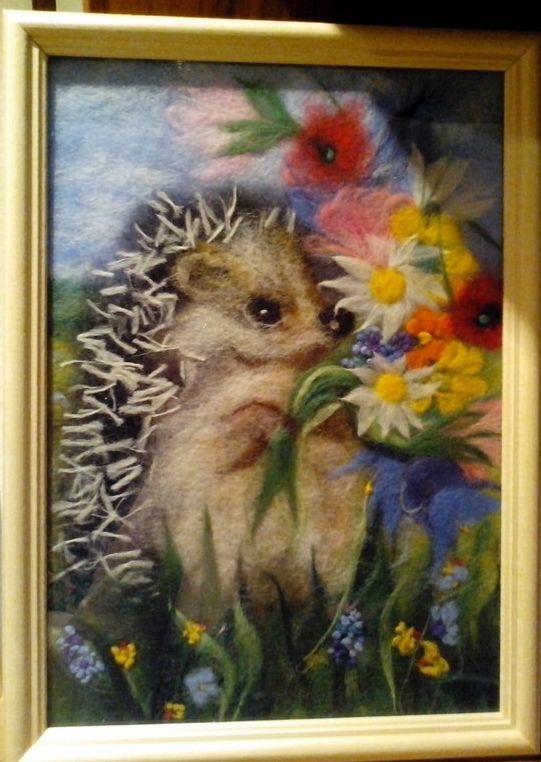 Шерстяная живопись. Фото: архив Светланы АБРАМЧУК