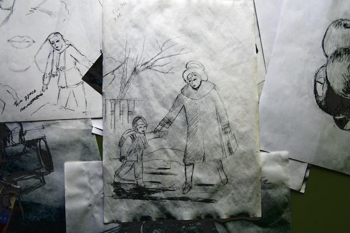 Зарисовки Александра. Фото: Евгений ТИХАНОВИЧ