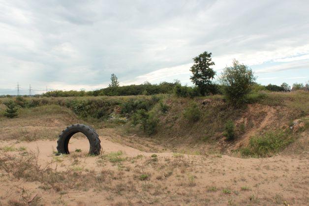 Пустырь в Боровках, где преступник закопал убитого им человека. Фото: Юрий ПИВОВАРЧИК