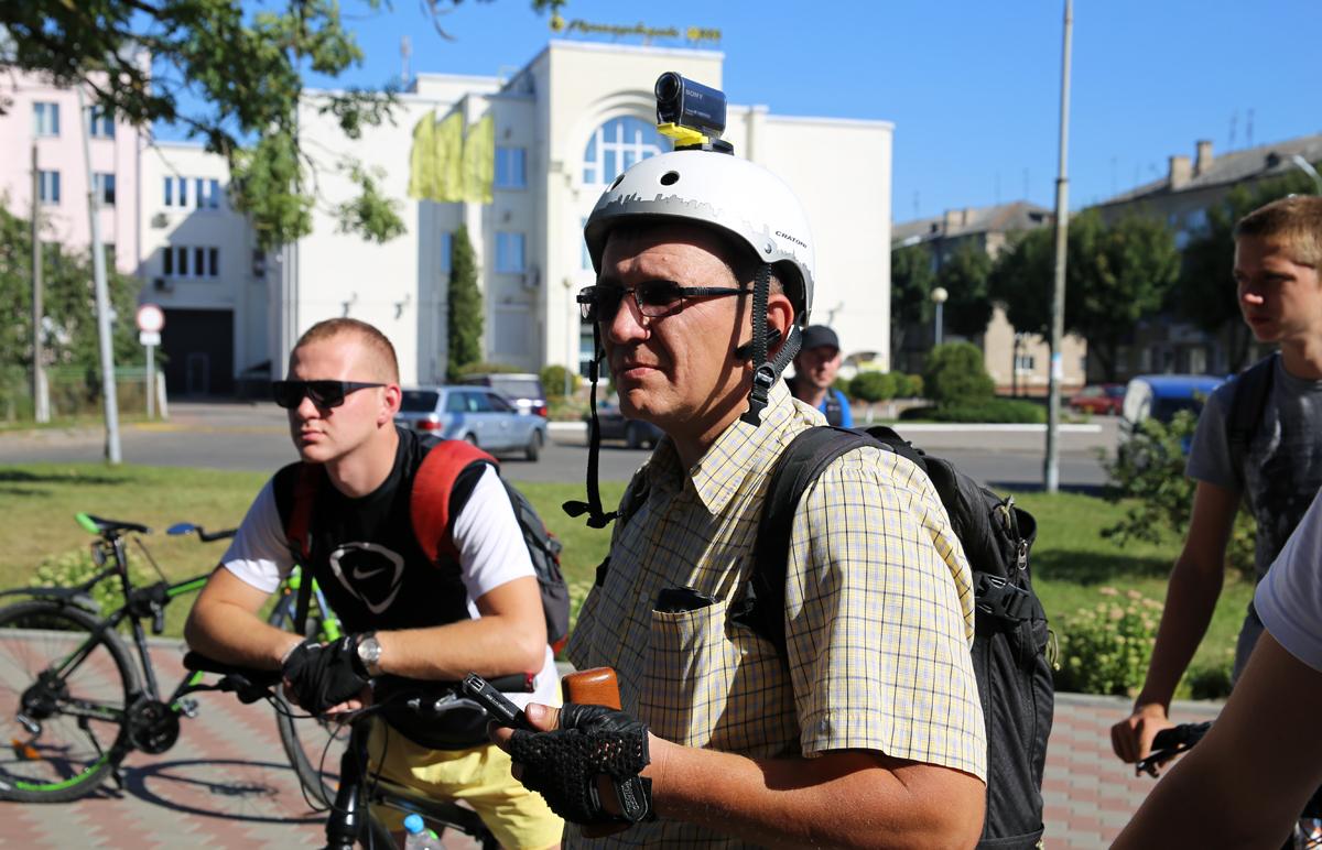 Организатор велопокатушек – Алексей Шугаев. Фото: Евгений ТИХАНОВИЧ