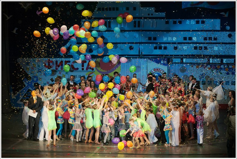 Сброс шаров на концерте. Фото: архив Веры КУНАШЕНКО