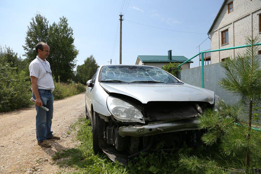 Минчанин Сергей попал в ДТП с косулей в конце июля. Фото: Александр КОРОБ