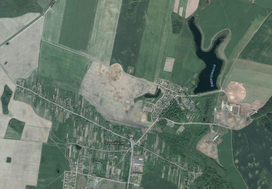 Водоем вблизи деревни Стайки. Фото: google.by/maps