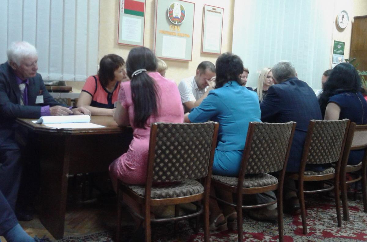 Заседание окружной комиссии по Барановичскому-Восточному округу №6. Фото: Татьяна МАЛЕЖ
