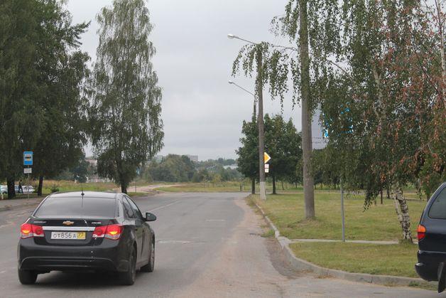 Попробуйте найти на фото два знака Пешеходный переход на улице Парковой (подсказка: первый спрятался за березой, второй - за кленом). Фото: Татьяна МАЛЕЖ