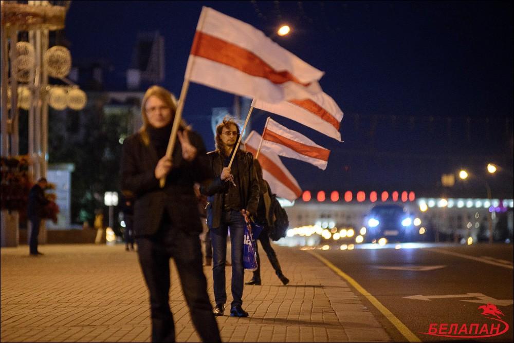 В Минске пронесли бело-красно-белый флаг. belapan.by