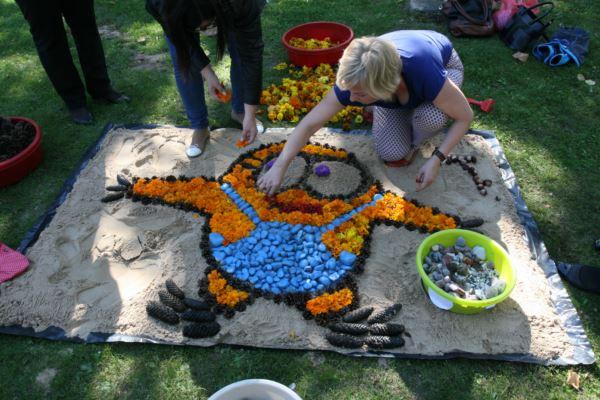 Ковер из цветов в Шяуляе. Фото: сайт respublika.lt
