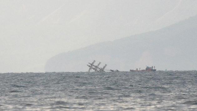 Затонувшее судно. Фото: сайт trthaber.com