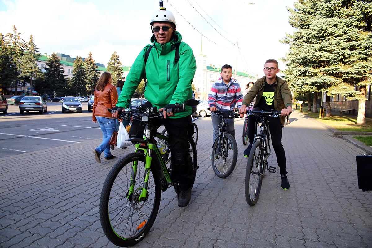 Организатор велодвижения – Алексей Шугаев. Фото: Евгений Тиханович