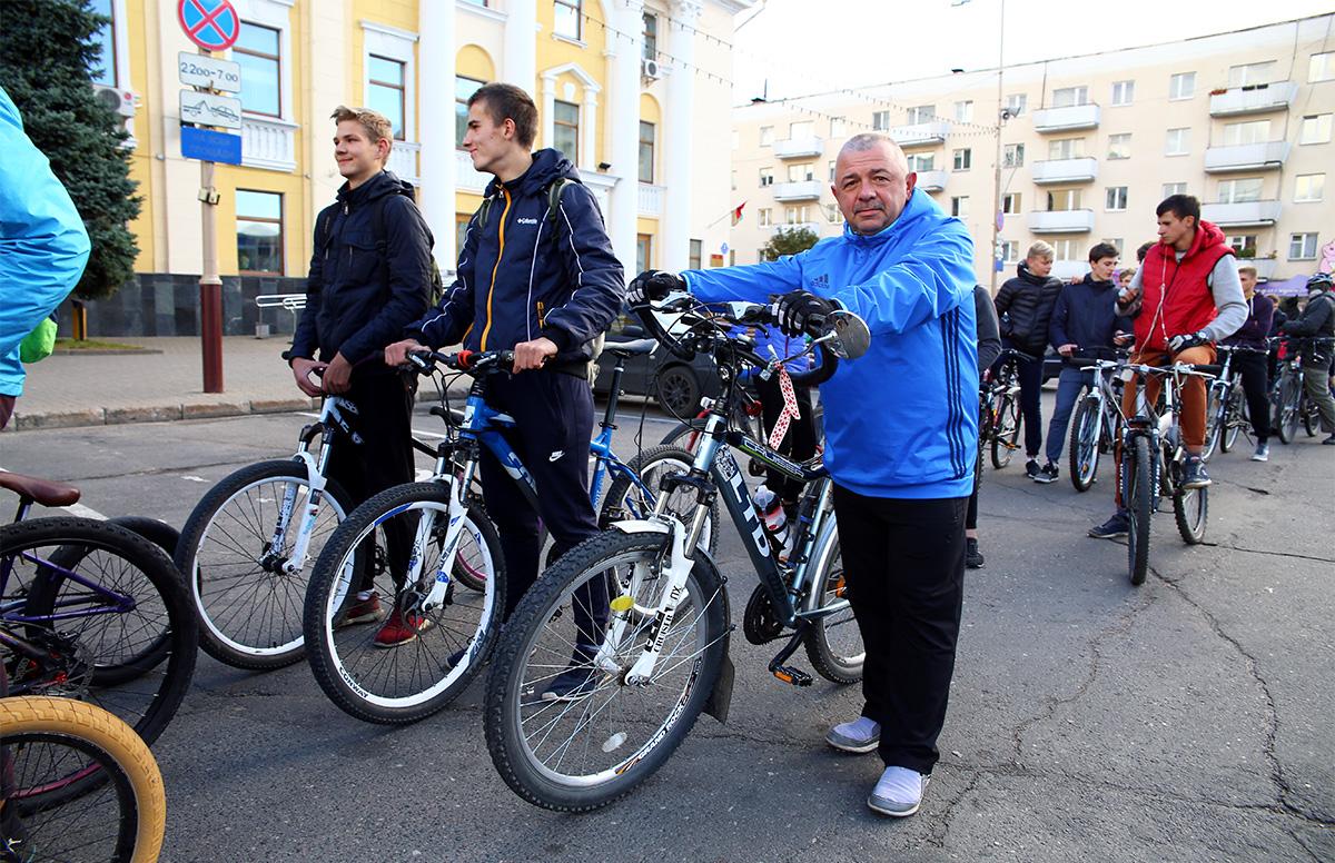 Организатор велодвижения – Андрей Макар. Фото: Евгений Тиханович