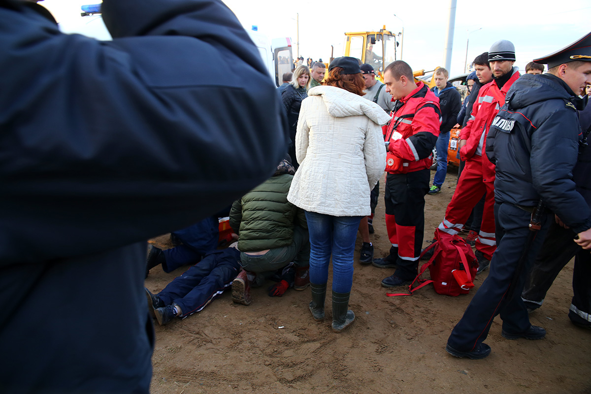 Во время проведения мероприятия не обошлось без травм. Фото: Евгений ТИХАНОВИЧ