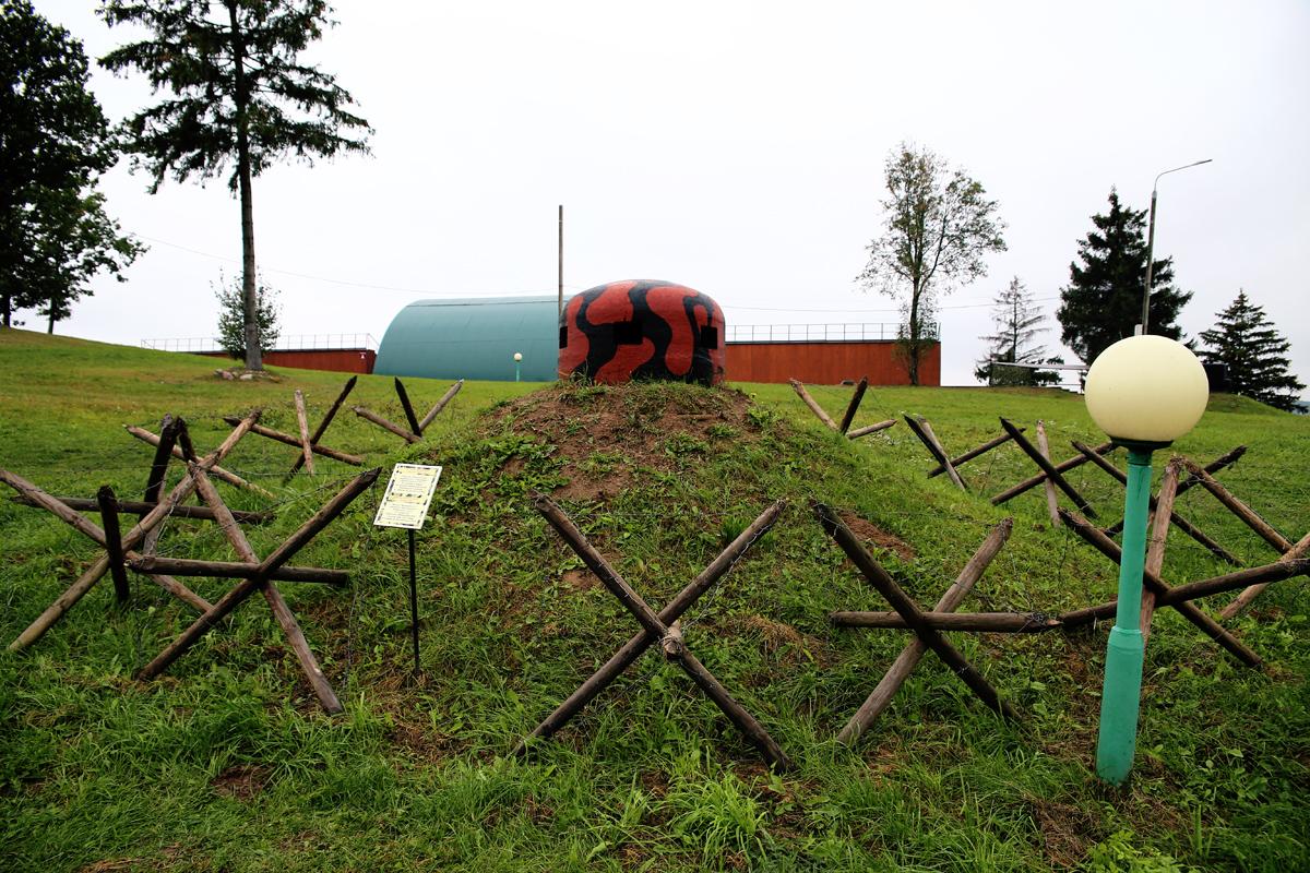 Наблюдательный бронеколпак из города Барановичи.