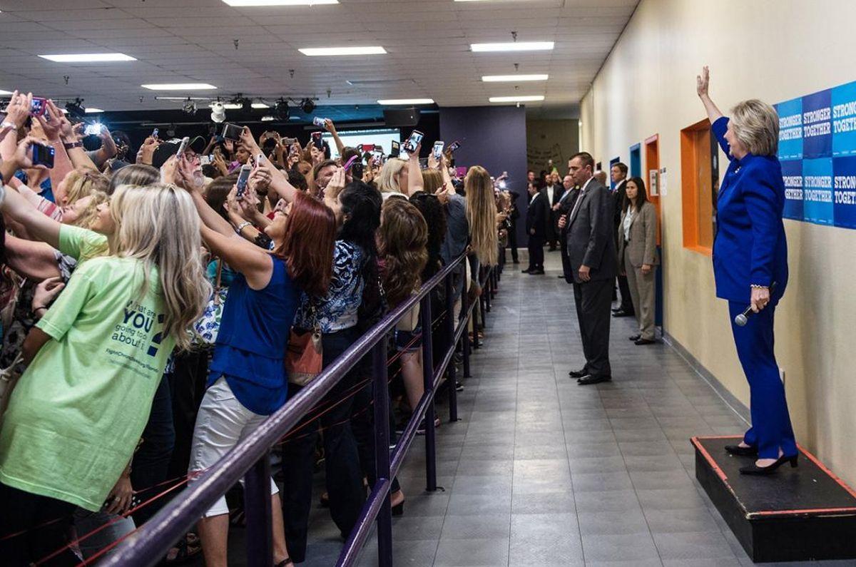 Селфи с Хиллари Клинтон. euroradio.fm
